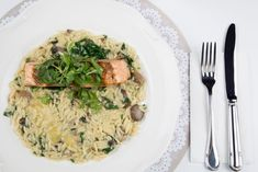 zitým opláchnite lososa, osušte a pokrájajte na fil Risotto, Ethnic Recipes, Food, Essen, Meals, Yemek, Eten