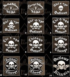 """1965 Charlie was names as center patch and the AOA was born. 1969 God forgives Outlaws don't was made club motto. 1989 the """"MC"""" patch was added. Old School Motorcycles, Small Motorcycles, Biker Clubs, Motorcycle Clubs, Outlaws Motorcycle Club, Biker Patches, Old Bikes, Grim Reaper, Skull Art"""