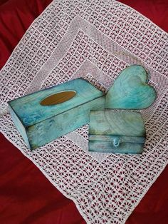 decoupage set box an heart