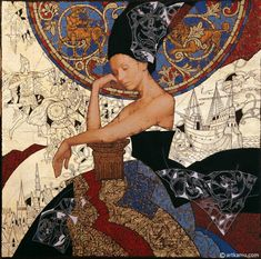 Impressioni Artistiche : ~ Olga and Sergei Kamennoy (KAMU) ~ Art And Illustration, Figure Painting, Painting & Drawing, Modern Art, Contemporary Art, Klimt Art, Figurative Kunst, Photocollage, Traditional Paintings