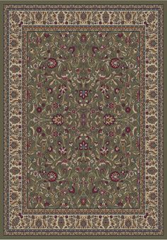 Gem Kashan Green Area Rug