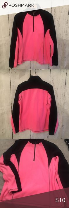 Pink & Black Fleece Pullover New Tek Gear brand from Kohls. Size large. Super soft.  Check out my items and follow me for new things. I'm always happy to bundle or answer questions.   Clean, non smoking home. tek gear Sweaters