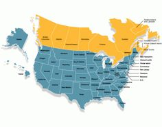 Provinces And States Map Easily Shows What States Share Borders - Blank map of us states and canadian provinces