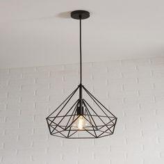 Suspension E27 Design Byron Metal Noir 1 X 60 W Inspire Pendant Light Ceiling Lights Design