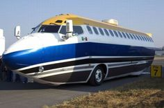 Jumbo Jet Aircraft Converted Into a Bus