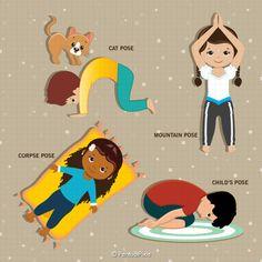 yoga clipart kids yoga meditation excercise clipart yoga
