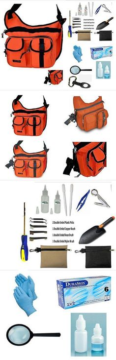 """Metal Detector Accessories: Gold And Metal Detecting 17"""" Blaze Orange Sling Pack And 22 Pc Accessory Bundle -> BUY IT NOW ONLY: $49.95 on eBay!"""