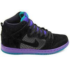 Nike SB Dunk High Prem-Black/Black-Grape Ice