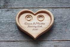 Personalized Wood Wedding Ring Bearer Holder. - Wedding Ring Cushion - Wedding - Handmade with love in Liepaja, Latvia by LVwoodworks | romantic | Personalisable | ♥ DaWanda ♥ Handmade ♥ Unique Products ♥ Gift Ideas ♥ DIY ♥ Design ♥ Made with Love ♥
