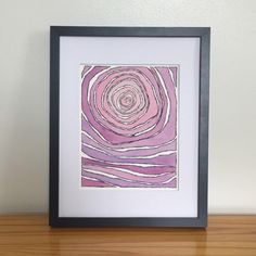 A little something for everyone. Abstract watercolor painting, mixed media painting