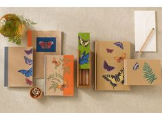 #DIY Butterflies and Ferns Journals with Martha Stewart #crafts Decoupage - so cute for back to school!