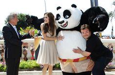 Dustin Hoffman, Angelina Jolie and Jack Black at event of Kung Fu Panda