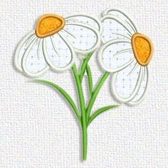 Today's free embroidery design from Adorable Applique are flowers. Cute!
