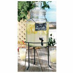 cool Home Essentials 1834 Del Sol 1.5 Gallon Chalkboard Jug With Rack,  #HomeEssentialsJuicers&Blenders