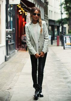 blazer+leather&boots