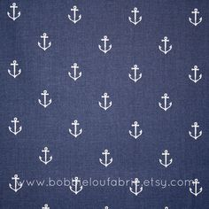 Michael Miller  Anchors Away in Navy  Fat by BobbieLouFabric, $2.75