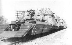 German Wehrmacht - Armored Train with Artillery and Anti-Aircraft Guns