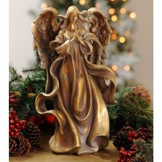 Add the serenity of this Antique Gold Praying Angel Statue to your Christmas decor. Elf Christmas Decorations, Christmas Angels, Christmas Holidays, Merry Christmas, Angel Statues, Antique Gold, Antiques, Gifts, Iglesias