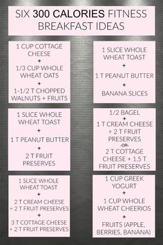 Six Fitness 300 Calories Breakfast Ideas. Affordable, easy and quick breakfast that is healthy and low calorie. Breakfast ideas to help lose weight.