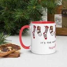 Christmas Coffee, Family Christmas, All Things Christmas, Christmas Themes, Handmade Shop, Etsy Handmade, Pretty Mugs, Xmas Stockings, Secret Santa Gifts