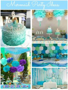 Mermaid Party Ideas #Mermaid #GirlsParties