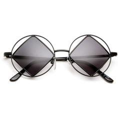 Groov Diamond Hippie Style Sunglasses ($14) ❤ liked on Polyvore featuring accessories, eyewear, sunglasses, glasses, fillers, hippie glasses, diamond sunglasses, hippie sunglasses, lens glasses and uv protection sunglasses