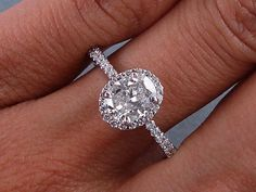 Would you like this on your hand? Its a beautiful 1.22 ctw Oval Cut Diamond Engagement Ring!    On sale for $2,990 at http://www.bigdiamondsusa.com/accentovals.html or call 1-877-795-1101 for more details!