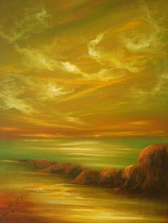 Zena Rowland -Footprints ( oil on canvas )