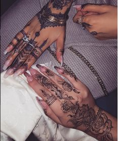 Fashion Nails And Hand Tattoos For Women Face Tattoos For Women Tribal Hand Tattoos