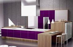 Cabinet Kitchen White Interior Design   ... kitchen interior design , minimalist white kitchen, purple kitchens