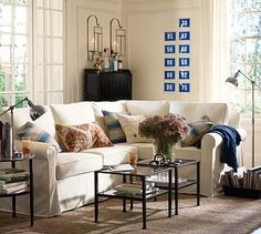 Cameron Slipcovered Roll Arm 3-Piece Sectional with Corner #potterybarn