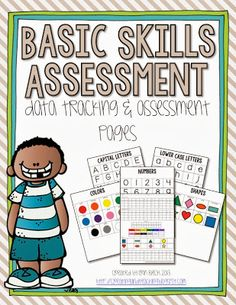 Basic Skills Assessment: data tracking and assessment pages