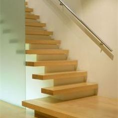 Floating Stairs Design Ideas, Pictures, Remodel, and Decor - page 3 Indoor Stair Railing, Staircase Railings, Stairways, Banisters, Floating Staircase, Modern Staircase, Staircase Design, Stair Design, Cantilever Stairs