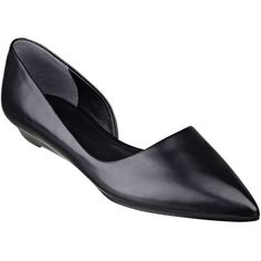 Pre-owned Sigerson Morrison Black Gertie D'orsay Flats ($229) ❤ liked on Polyvore featuring shoes, flats, black, black shoes, pointed toe flats, sigerson morrison flats, flat pumps and shiny black shoes