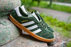 Мужские Adidas Hamburg Hamburg цвет: зеленый, белый