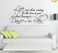 """Newsee Decals 15.7"""" X 31.5"""" Life Isn't About Waiting For The Storm To Pass Motivational Inspirational Vinyl Quote Words Room Art Mural Wall Sticker Decal Black Newsee Decals http://www.amazon.com/dp/B00V3EADI6/ref=cm_sw_r_pi_dp_17ppvb1MGPT7B"""
