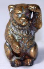 RaRe ANTIQUE c1850's~~ Adorable Brass TEDDY BEAR TAPE MEASURE~~ORIGINAL novelty