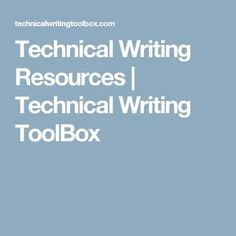 Technical Writing Resources | Technical Writing ToolBox