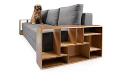 New sofa range with integrated storage in wooden armrests.