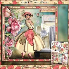 Lady Of The Manor on Craftsuprint designed by Gillian Hutchinson - Lady