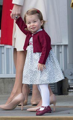 Princess Charlotte of Cambridge depart Victoria on October 1, 2016 in Victoria, Canada.