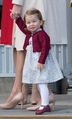 Princess Charlotte of Cambridge depart Victoria on October 1, 2016 in Victoria, Canada.