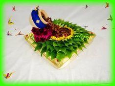 Indian Wedding Decorations, Flower Decorations, Thali Decoration Ideas, Ganapati Decoration, Trousseau Packing, Wedding Doll, Marriage Decoration, Wedding Plates, Wedding Crafts