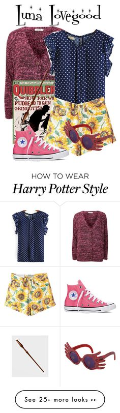 """Luna lovegood"" by ravenclawchick852 on Polyvore featuring Luna, Converse and INC International Concepts"