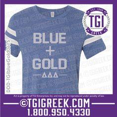 TGI Greek - Delta Delta Delta - PR shirt - Greek T-shirts