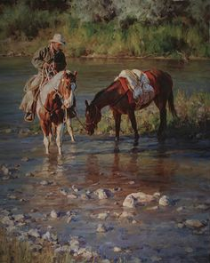 """Cub River Packer"" by Jason Rich (Cowboy Artist)"