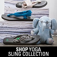 """Find your """"Ohm"""" away from home with sandals made from real yoga mats... shop www.sanuk.com/womens"""
