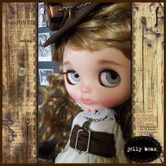 Blythe ooak Urban Cowgirl custom doll jelly bean from Japan F/S #Blythe #DollswithClothingAccessories