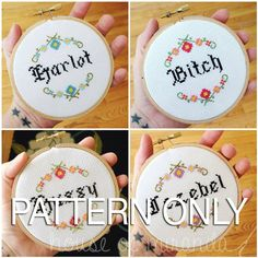 Bitch+Jezebel+Harlot+Hussy++PATTERN+ONLY+by+houseofmiranda+on+Etsy,+$5.00