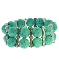 Turquoise bracelet by bamboopink www.bamboopink.net/jaimefleming